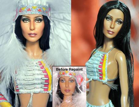 Mattel Doll Repaint - Cher by noeling