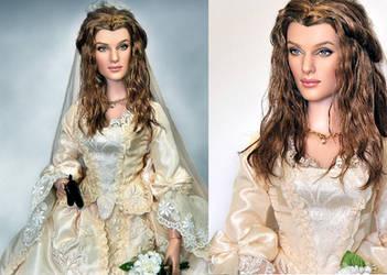Repainted Doll Elizabeth Swann by noeling