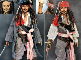 repaint doll - Jack Sparrow by noeling