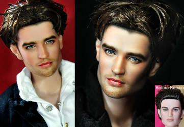 Robert Pattinson doll repaint by noeling