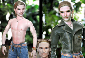 Doll Repaint - Twilight James by noeling