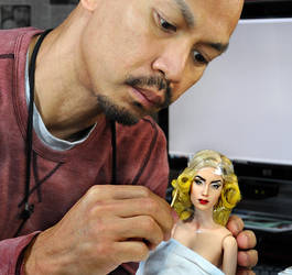 Creating Lady Gaga custom doll by noeling