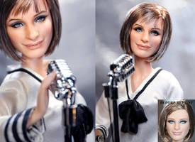Barbra Streisand doll repaint by noeling