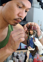 Creating Jack Sparrow doll by noeling