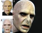 Ralph Fiennes as Voldemort custom doll repaint by noeling