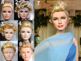 Grace Kelly custom doll repaint by noeling