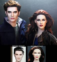 Breaking Dawn Part 2 Edward and Bella dolls by noeling