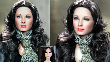 Jaclyn Smith Charlie's Angels doll repaint by noeling