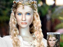 Cate Blanchett as Galadriel custom doll repaint by noeling