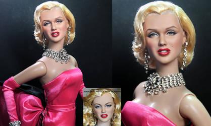 Marilyn Monroe custom doll repaint by Noel Cruz by noeling