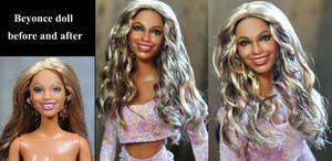 Beyonce custom doll repaint by Noel Cruz by noeling