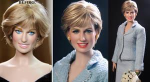 Princess Diana custom doll repaint by Noel Cruz by noeling