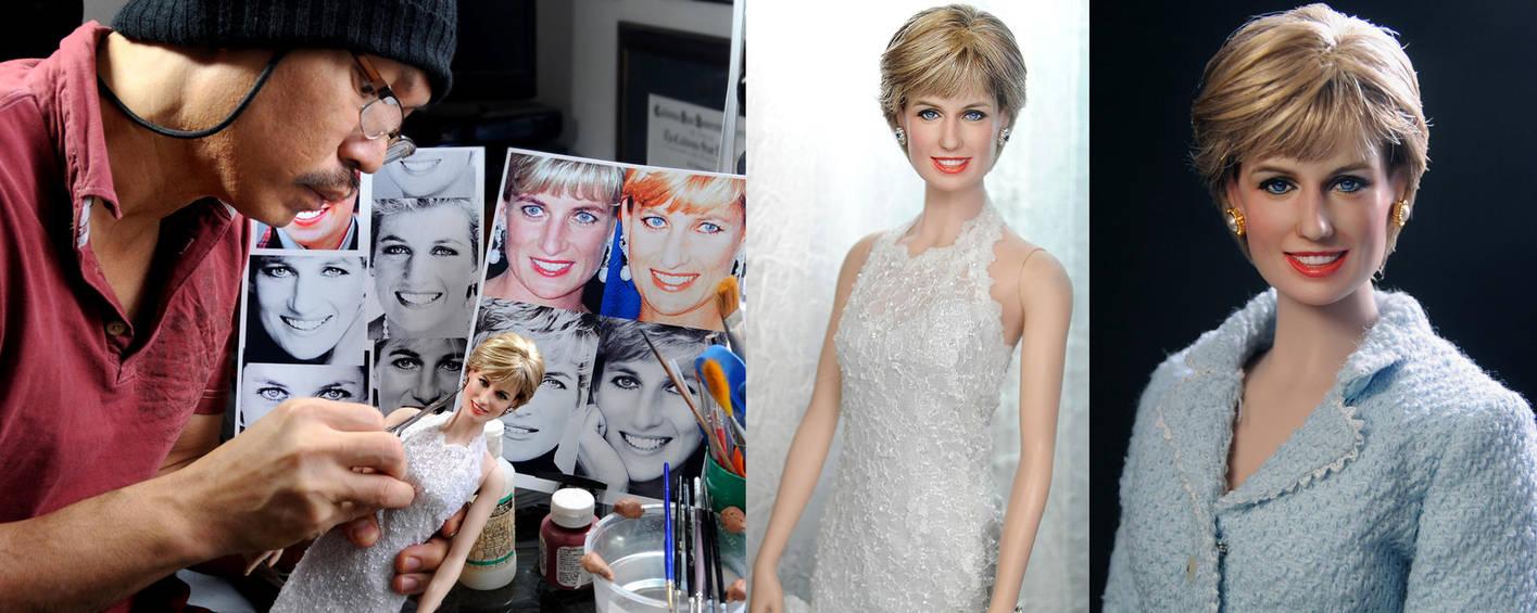 Custom painting Princess Diana doll by Noel Cruz by noeling