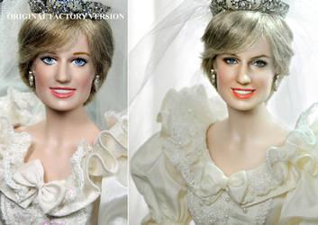 Princess Diana Wedding doll custom repaint by noeling