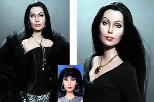 11 1/2 inch Mattel Cher doll custom repaint by noeling