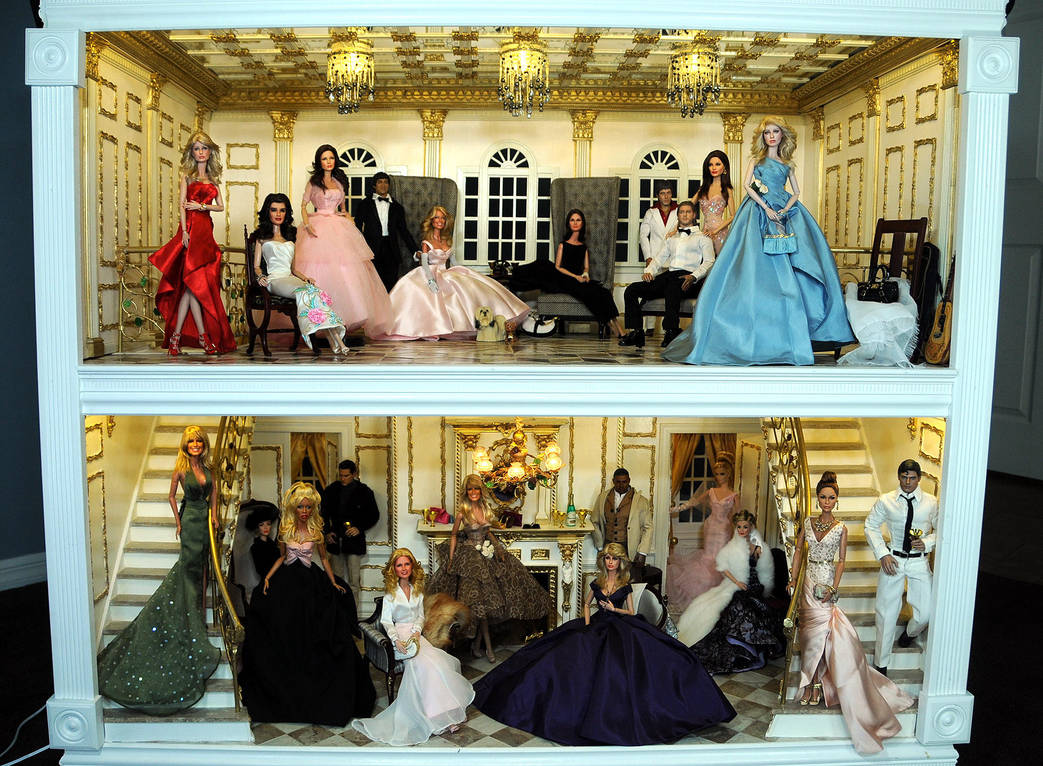 Repainted Celebrity dolls Hollywood Mansion Party by noeling