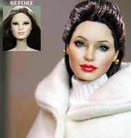 Angelina Jolie doll - custom repaint by noeling