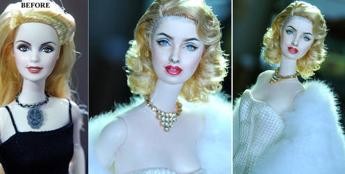 11  1/2 inch Madonna doll repaint by noeling