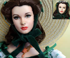 Scarlett O'hara Gone With The Wind doll repaint by noeling