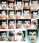 Repaint Process - Angelina Jolie Maleficent doll by noeling