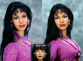 Selena Quintanilla custom doll repaint by noeling