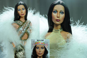 Mattel Cher doll repaint by Noel Cruz by noeling