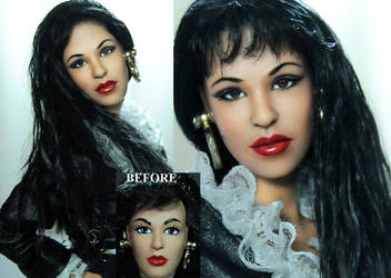 Selena Quintanilla Amor prohibido doll repaint by noeling