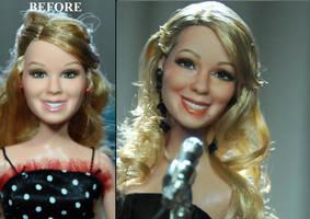 1990s style Mariah Carey - custom doll repaint by noeling