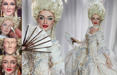 Doll Repaint - Madonna VOGUE by noeling