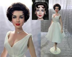 Elizabeth Taylor doll repaint by Noel Cruz by noeling