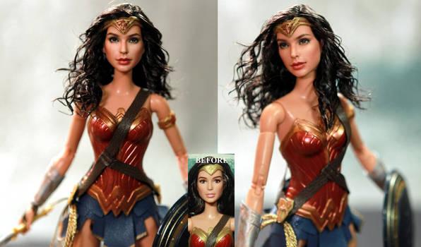 Wonder Woman Gal Gadot custom doll repaint by noeling