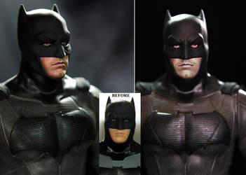 Ben Affleck Batman custom doll / figure repaint by noeling