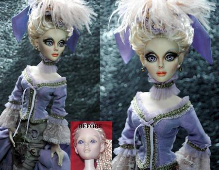 Gothic Evangeline Ghastly doll repaint by noeling