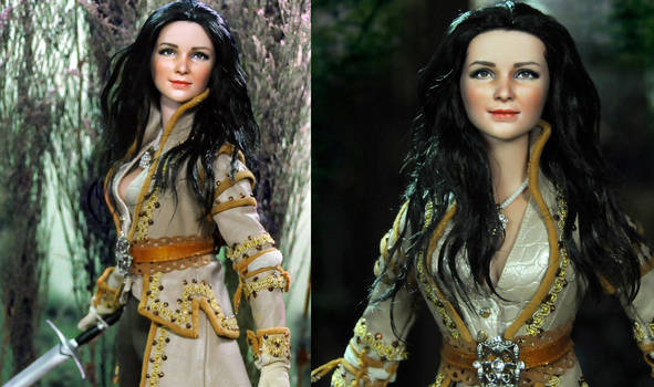 Once Upon A Time Snow White custom doll repaint by noeling