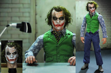 Repaint of 1/6 figure Heath Ledger Joker head by noeling