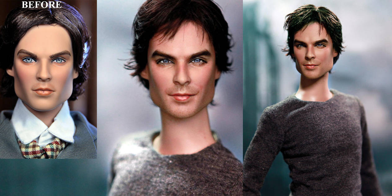 Vampire Diaries Damon custom doll repaint by noeling