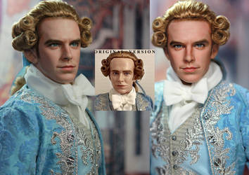 Doll Repaint Beauty and the Beast Prince Adam by noeling