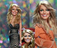 Farrah Fawcett Charlie's Angels doll art repaint by noeling