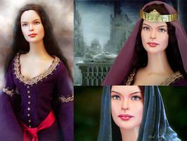 Doll repainted as Arwen by noeling