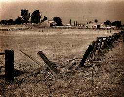 broken fence by chimpster7