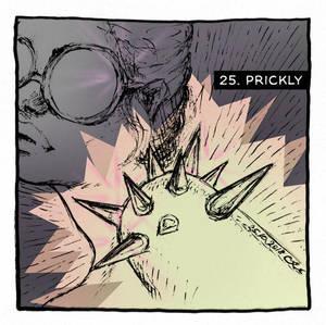 INKtober 2018 25 PRICKLY by nackmu