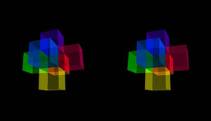 Magic Cubes Stereoscopy 1 by 8DFineArt