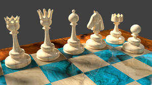 3d Chess Pieces Design by 8DFineArt