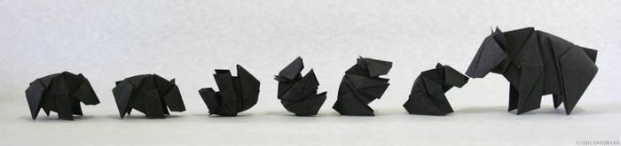 Origami Tumbling Little Bear by GEN-H