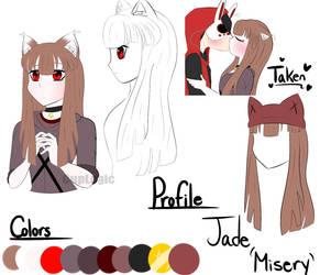 Jade(Misery) Ref-sheet by CupLogic