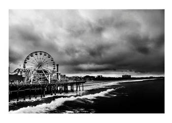 Storm over Santa Monica by Treamus