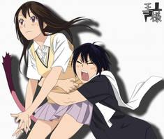 Noragami Yato and Hiyori Colored by Osama00