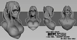 Lolly bust sculpt by Boris-Dyatlov