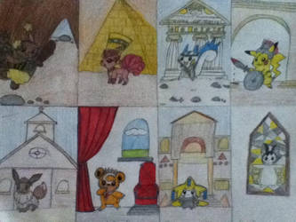 Pokemon Art History Timeline by jaritza2005