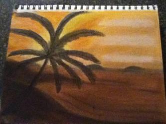 Sunset Beach Landscape by jaritza2005